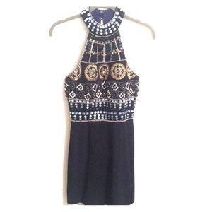 Jeweled and Beaded Mini Dress